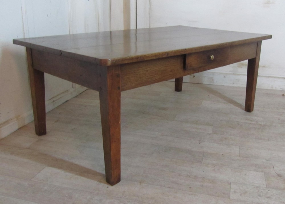 19th French Oak Farmhouse Coffee Table