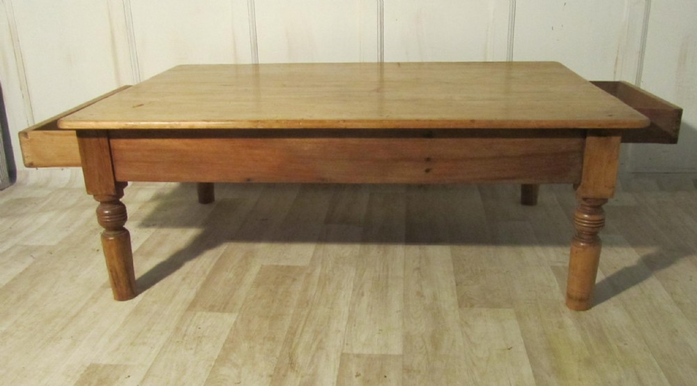 19th French Pine Farmhouse Coffee Table 242902