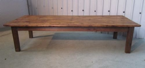 Large French Rustic Pine Farmhouse Coffee Table 116823