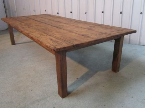 French Rustic Pine Farmhouse Coffee Table