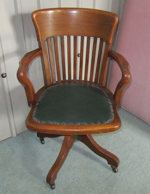 edwardian arts and crafts swivel desk chair oak office chair - Antique Swivel Desk Chair Uk. Desk Chair Etsy. Wooden Swivel Desk