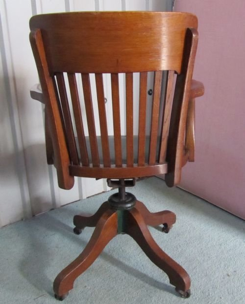 Edwardian Arts And Crafts Swivel Desk Chair Oak Office Chair 132222 Selli