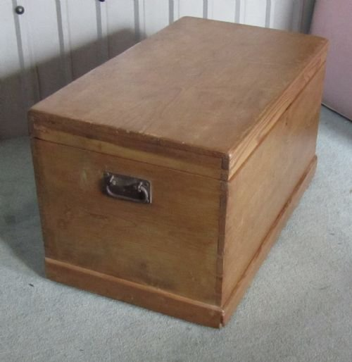 Large Victorian Pine Blanket Box Chest Coffee Table 132225