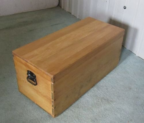 Victorian Pine Coffee Table: Victorian Stripped Pine Blanket Box Toy Chest Coffee Table