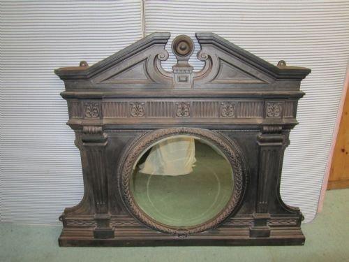 Heavy Victorian Cast Iron Over Mantle Mirror 139501