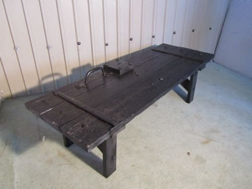 gothic coffee table from castle dungeon door - photo angle #3