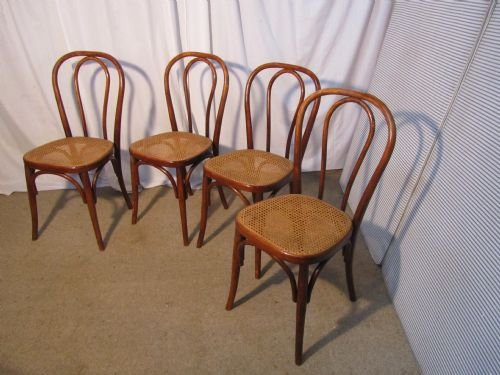 Declaration & Set Of 4 19th Century French Bistro Or Cafe Bentwood Chairs | 169787 ...