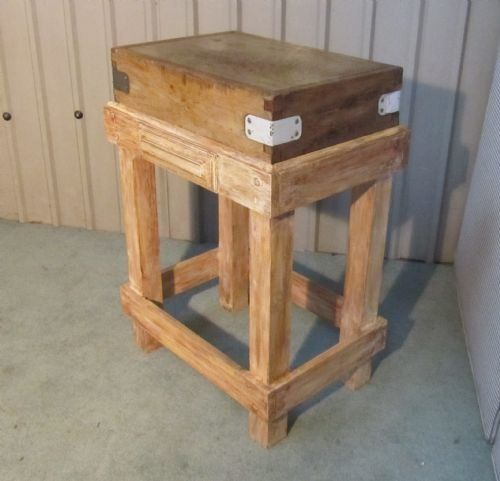 A French Vintage Butchers Chopping Block