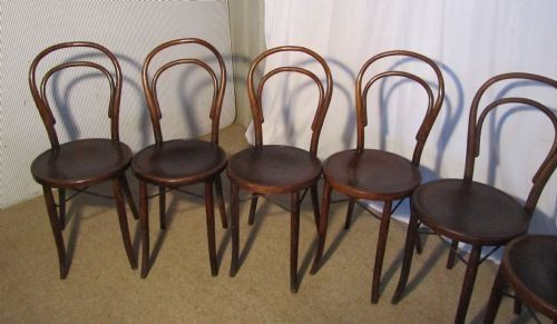set of 8 french bistro bentwood chairs 206821 sellingantiques co uk
