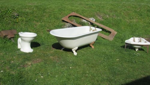 Original Victorian Bathroom Set Roll Top Bath Corner