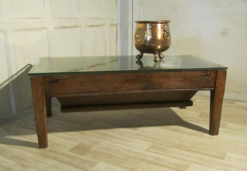 Original french farmhouse dough bin quirky coffee table for Quirky coffee tables