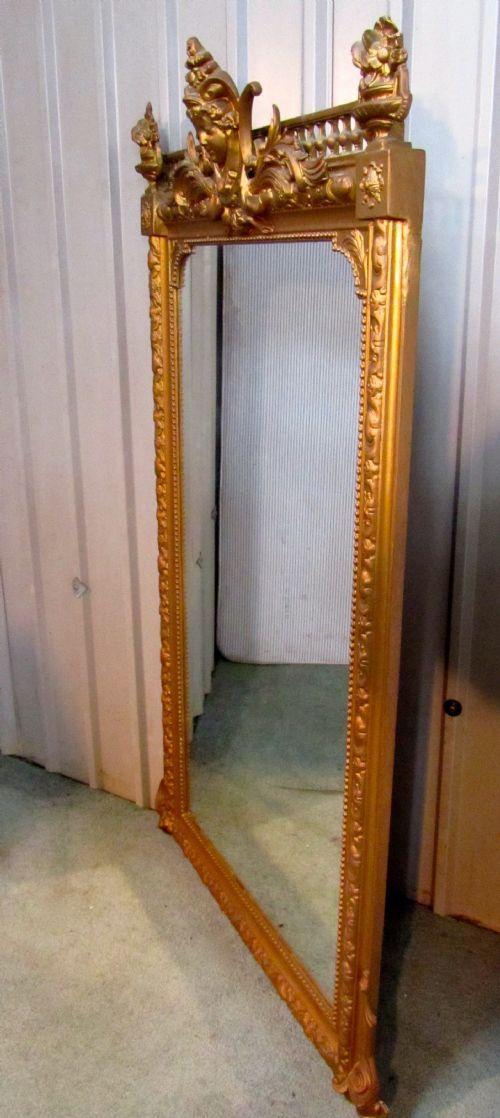 A Large French Art Nouveau Gilt Wall Mirror Photo Angle 3