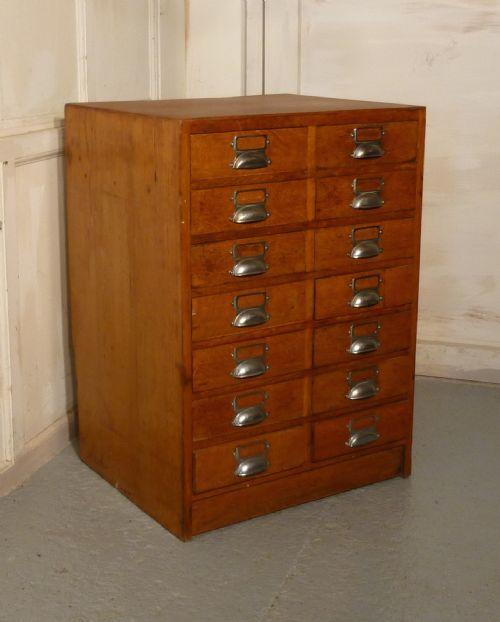 Golden Oak Kitchen Cabinets: Golden Oak 14 Drawer Filing Cabinet