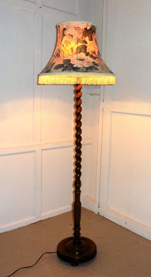 Vintage Barley Twist Floor Lamp
