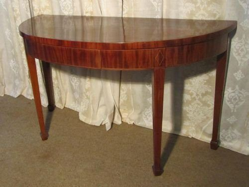 Elegant Round Foyer Tables : An elegant victorian mahogany half round hall table