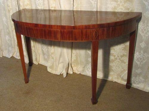 Foyer Table Half Round : An elegant victorian mahogany half round hall table
