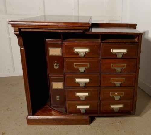 superb metamorphic mahogany pedestal filing cabinet desk by shanon