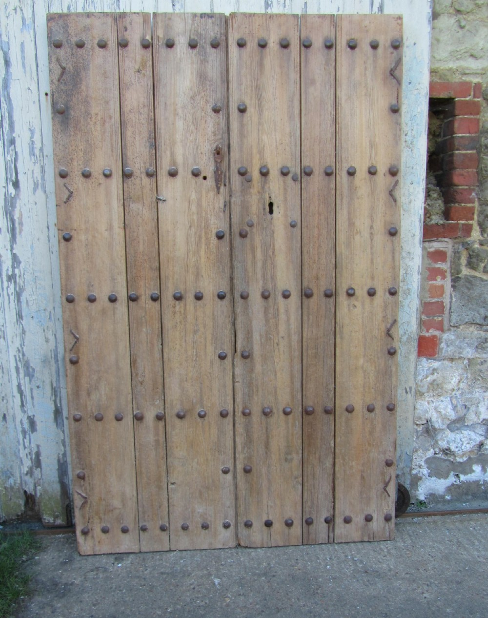 a pair of original 19th century spanish doors or double door. antique photo - A Pair Of Original 19th Century Spanish Doors Or Double Door
