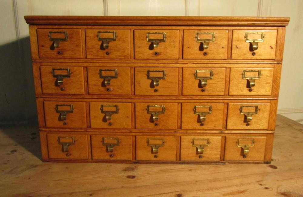 Golden Oak Card Index Filing Cabinet, Wine Rack | 243669 ...