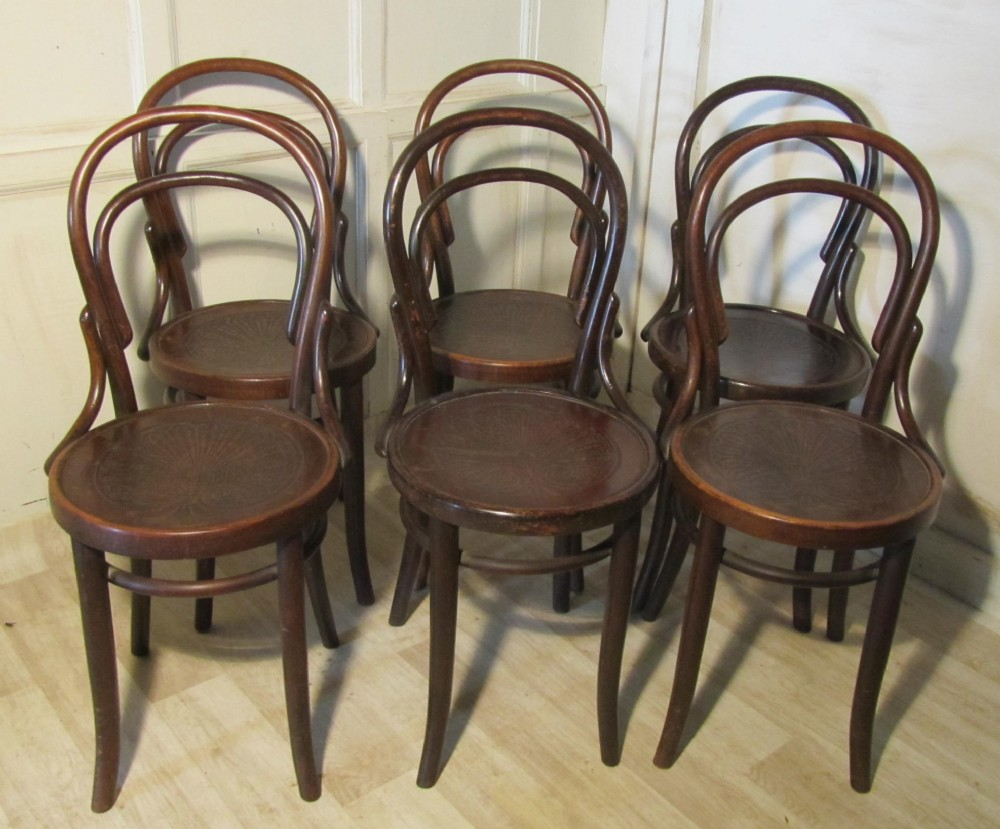 Exceptionnel Set Of 6 Thonet Bistro Bentwood Chairs