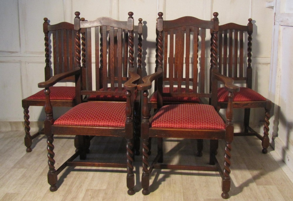 Tremendous A Set Of 6 Victorian Barley Twist Oak Dining Chairs 247721 Pabps2019 Chair Design Images Pabps2019Com
