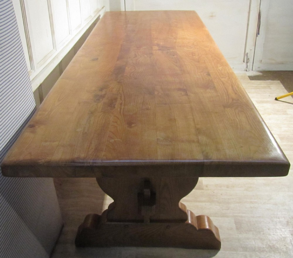 A large french elm refectory table table monast re 250754 sellingantique - Table monastere relookee ...