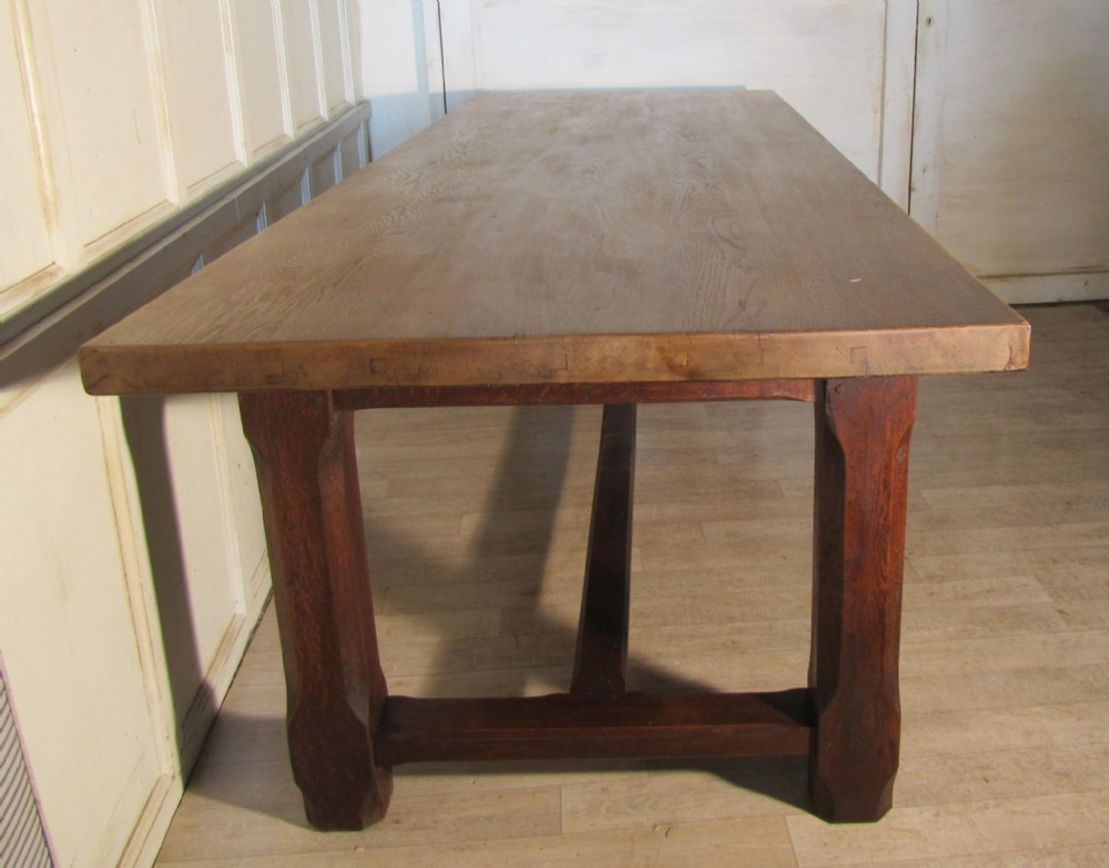 French Farmhouse Oak Dining Table From Brittany