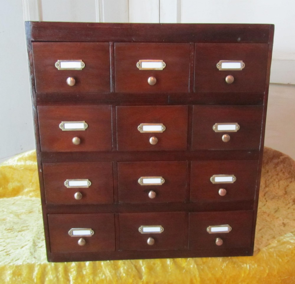 Small Victorian Storage Chest Of Drawers Filing Cabinet