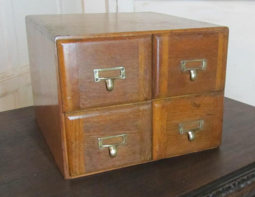 golden oak 4 drawer card index filing cabinet wine rack or coffee table.  antique photo - Golden Oak 4 Drawer Card Index Filing Cabinet, Wine Rack Or Coffee