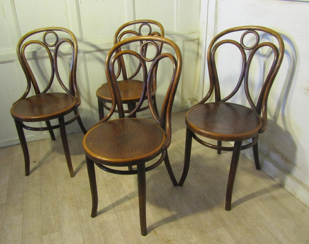 set of 4 thonet bistro bentwood chairs 275594 sellingantiques co uk
