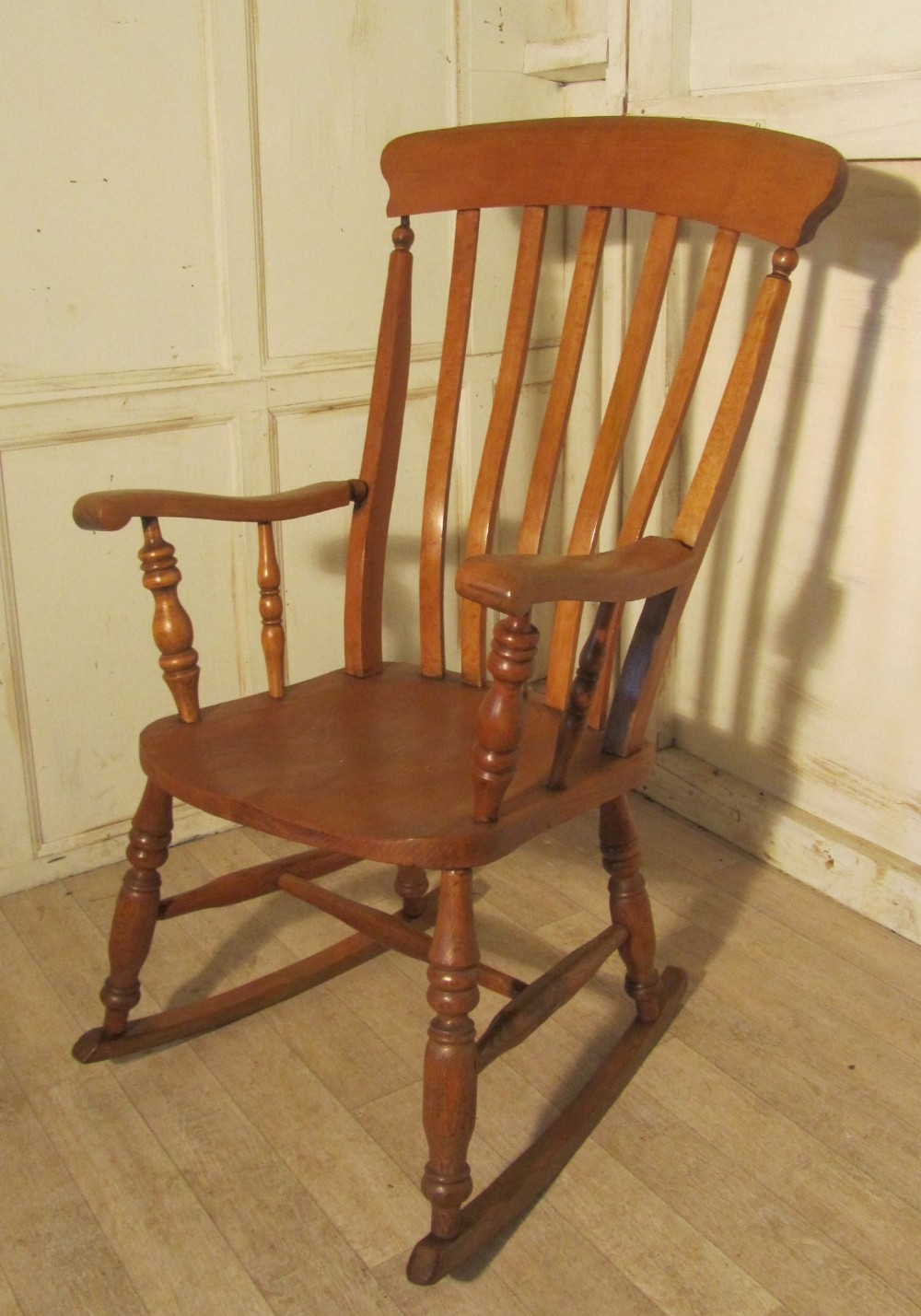 slat back chairs. Victorian Beech And Elm Slat Back Carver Rocking Chair Chairs U