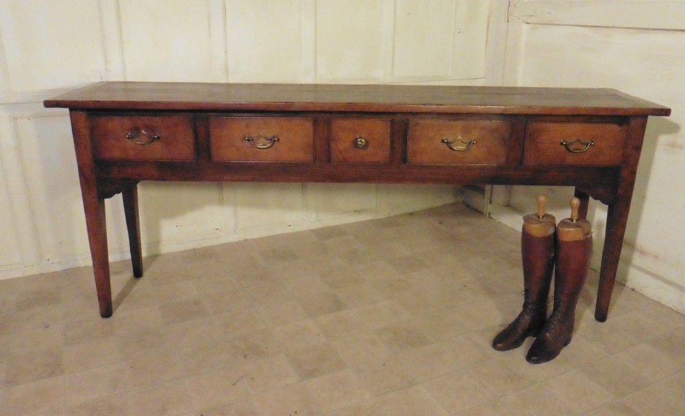 A Long French Fruit Wood Dresser Buffet Hall Table