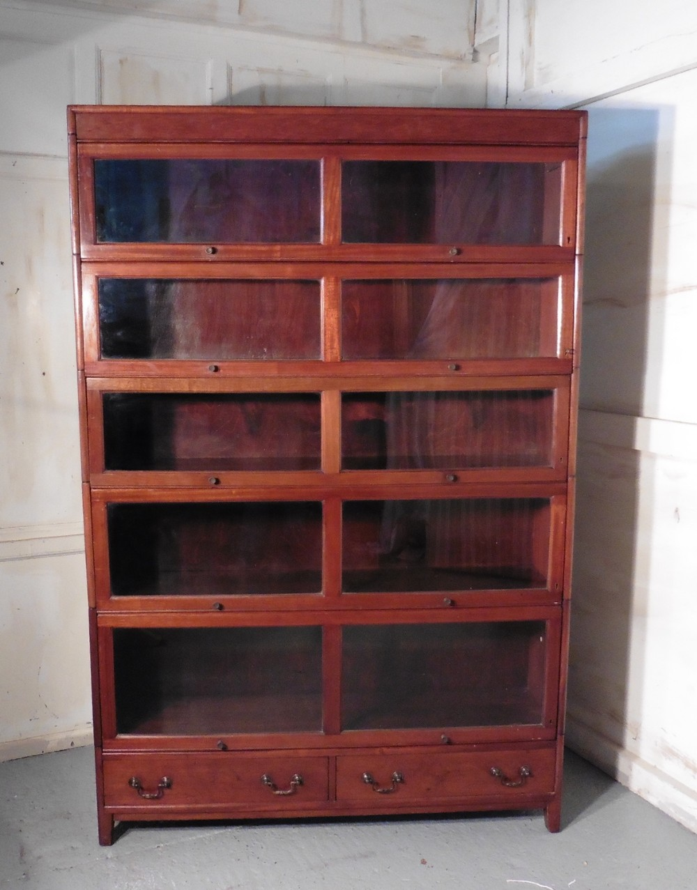 Large Mahogany Barristers Bookcase Or Filing Cabinet By Gunn