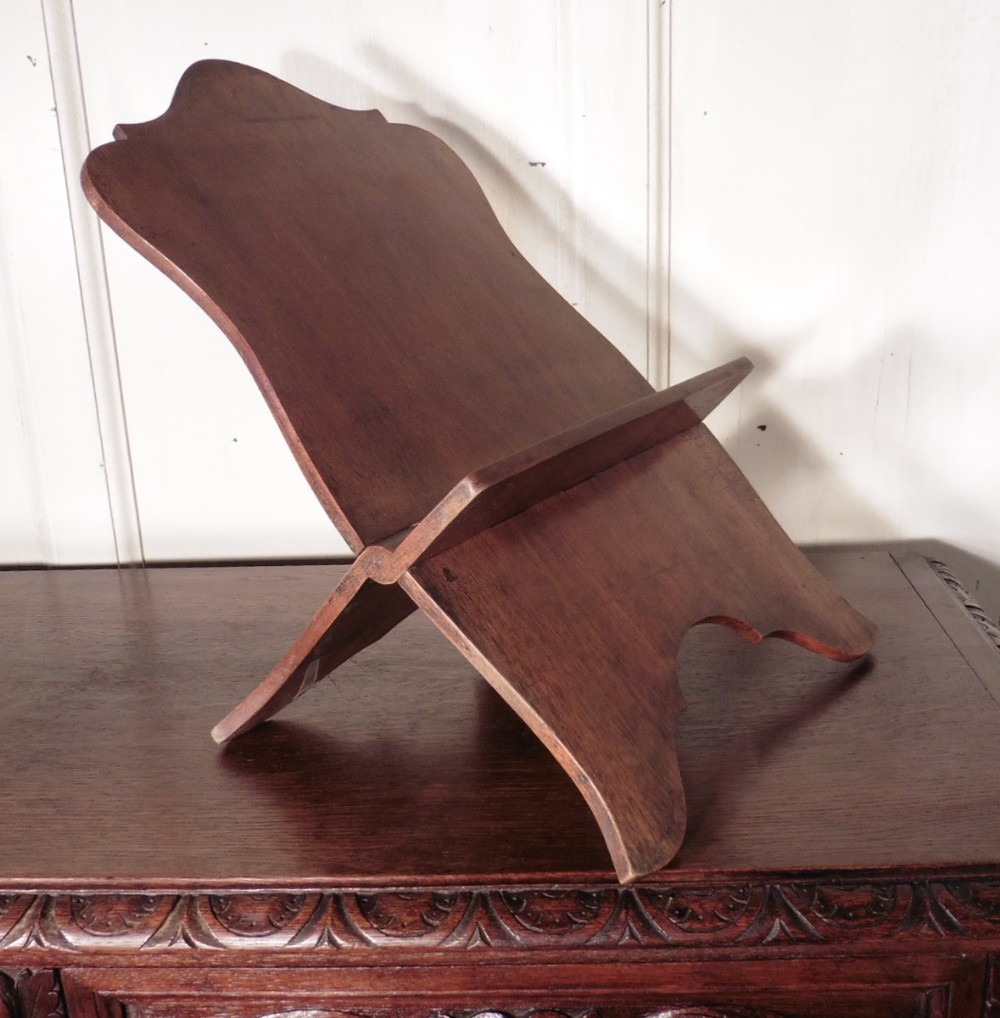 french walnut book rest music stand