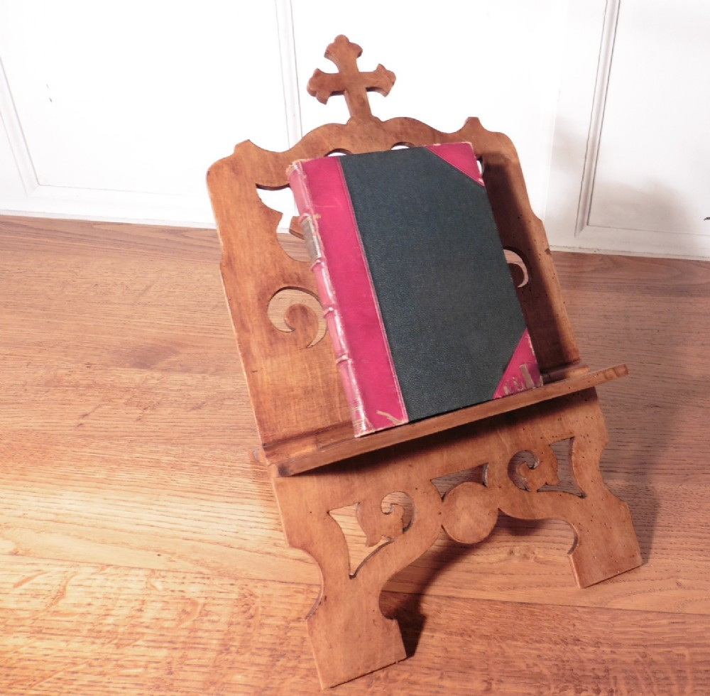 french cherry wood book rest music stand