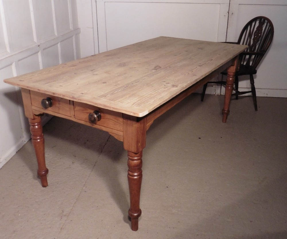Large victorian pine table scrub top kitchen table 415341 large victorian pine table scrub top kitchen table workwithnaturefo
