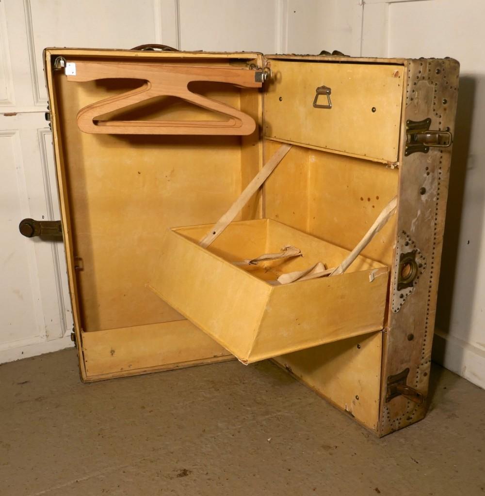 fitted steamer trunk or cabin wardrobe portmanteau in. Black Bedroom Furniture Sets. Home Design Ideas