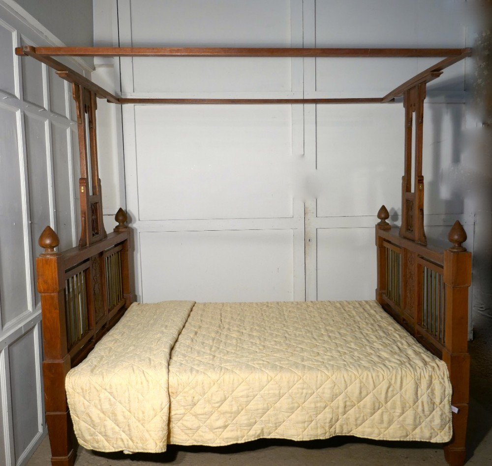 Colonial Style Antique Four Poster 5ft Double Bed 455332