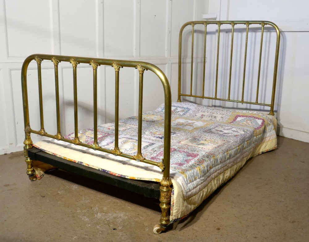 Superb quality victorian brass large single bed 474545 for Good quality single beds