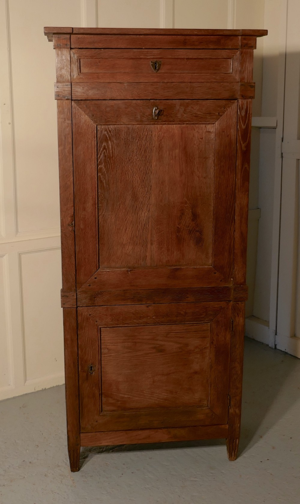 17th century french country oak secrtaire abattant
