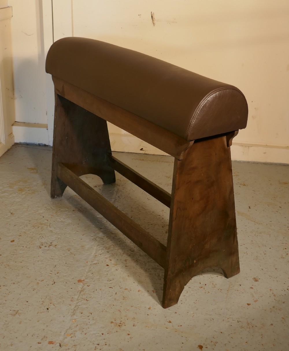 georgian mahogany leather upholstered saddle rack