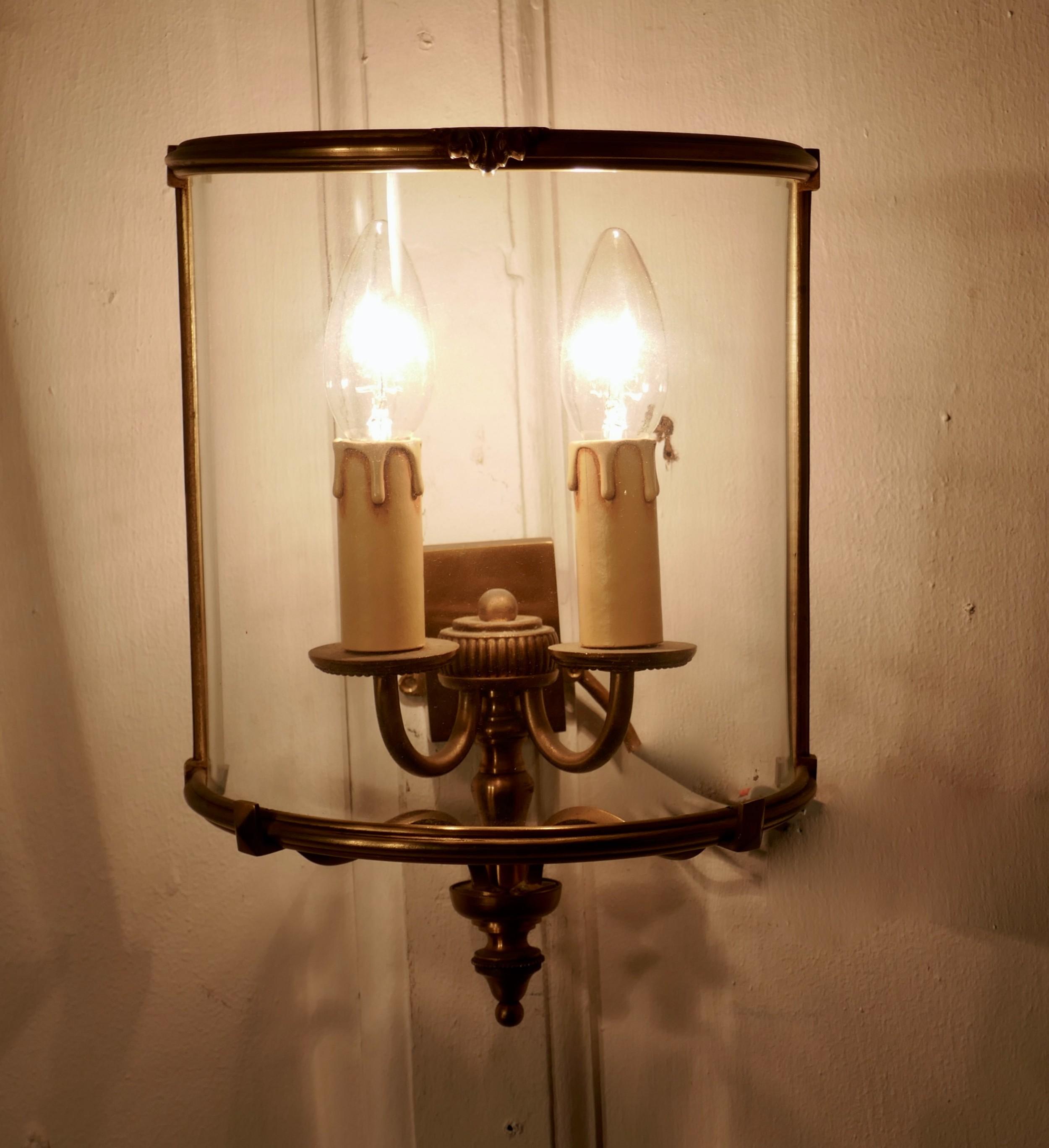 french twin light wall lantern