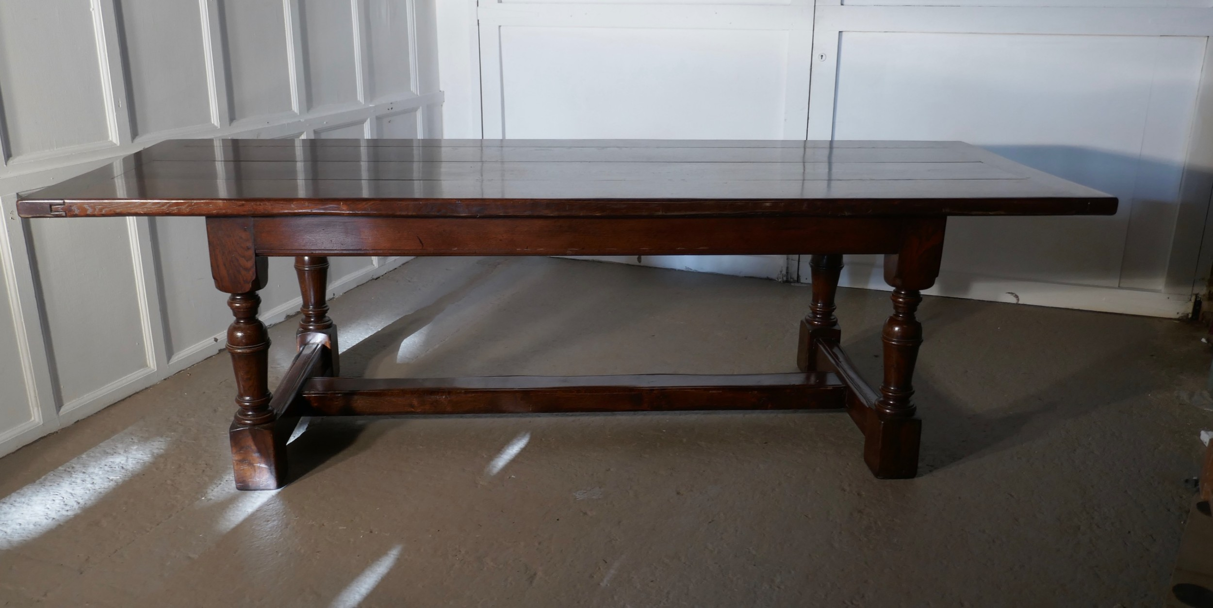 superior quality oak refectory dining table