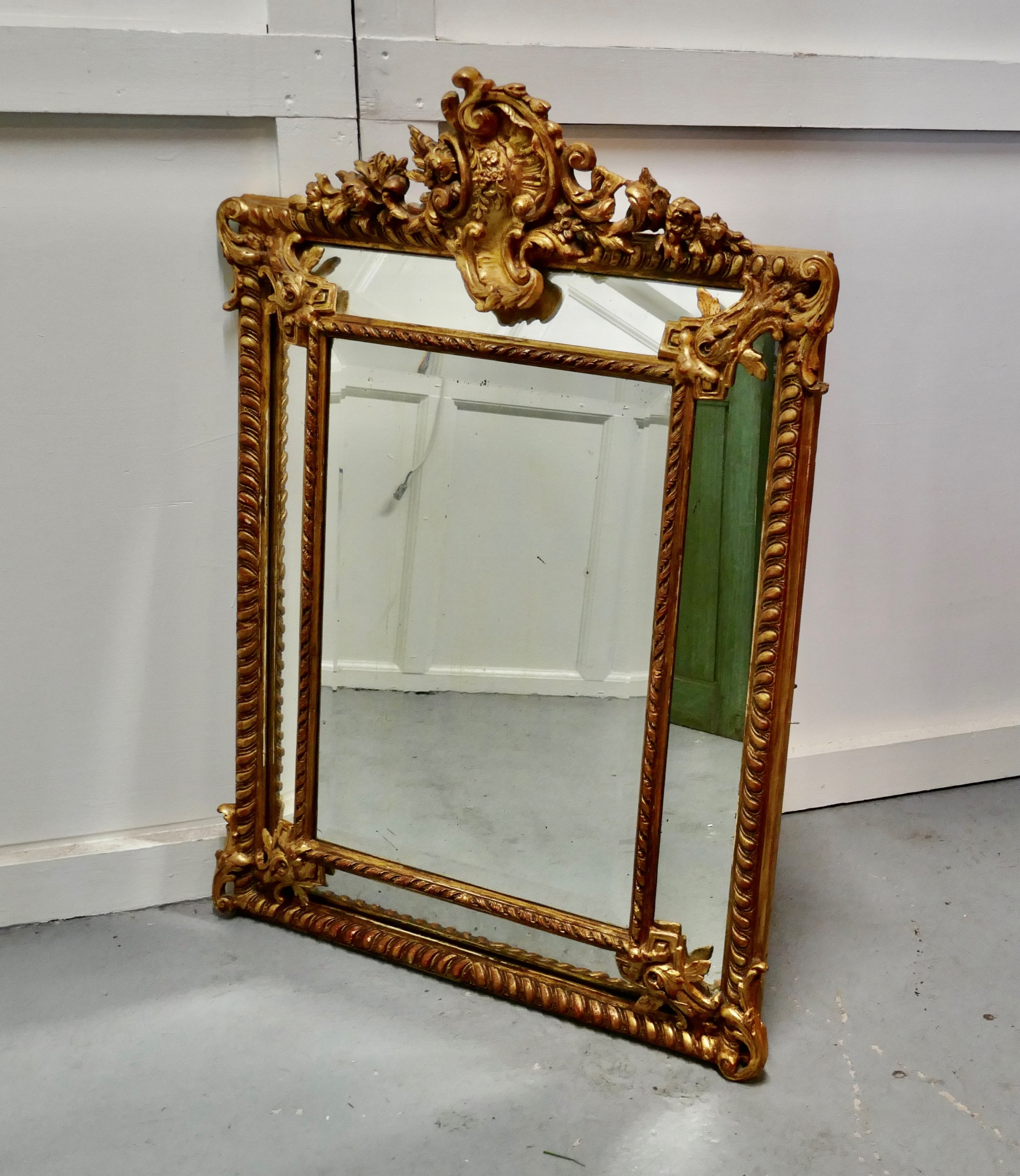 a stunning napoleon iii french cushion mirror