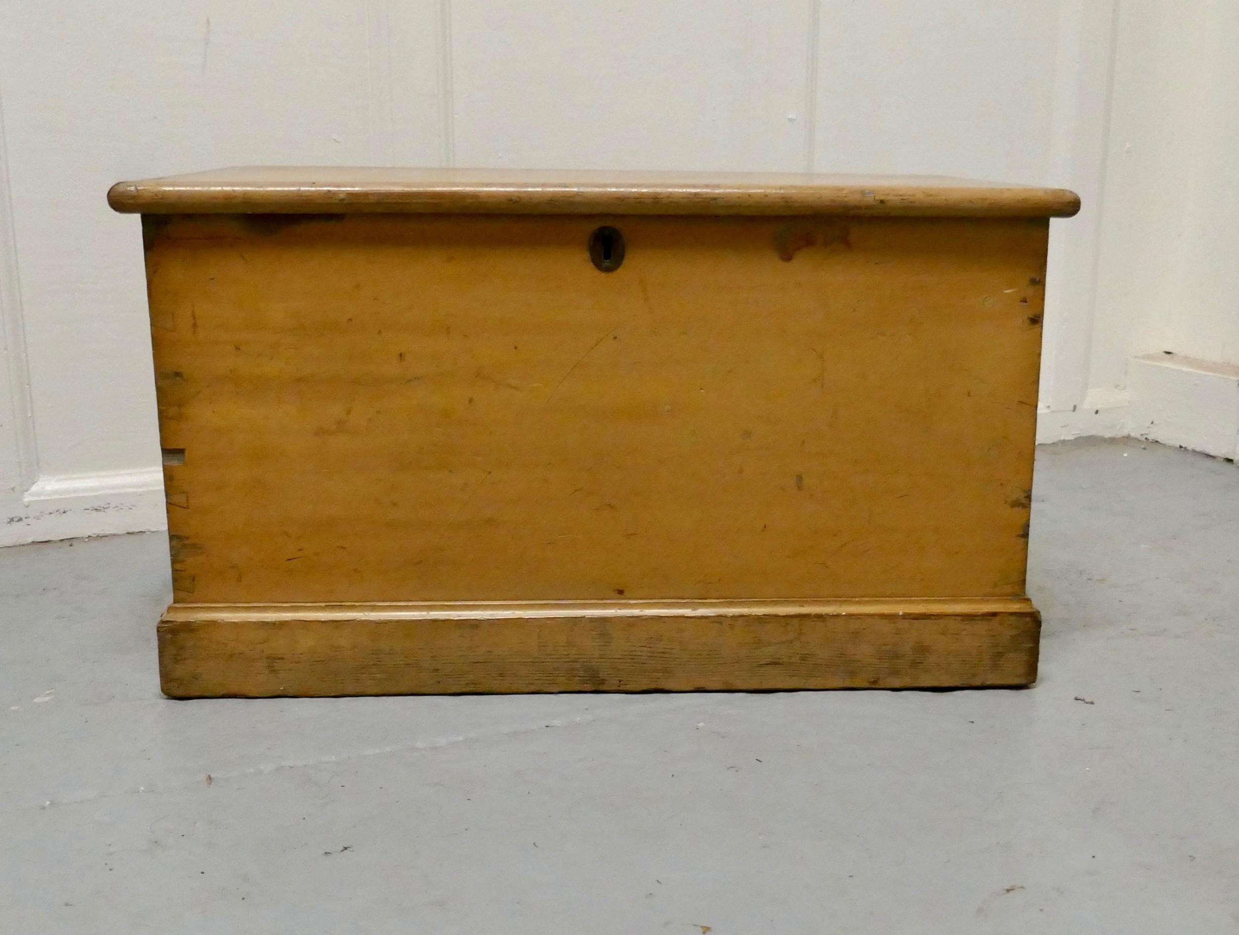 victorian original shabby painted pine blanket box