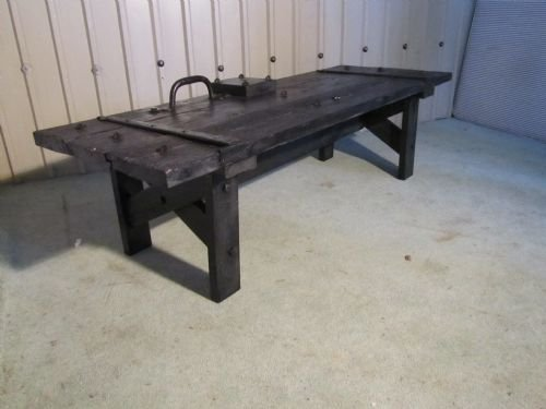 gothic coffee table from castle dungeon door