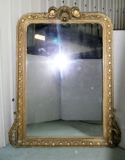 Large french gold over mantle mirror 91163 for Mantle mirror