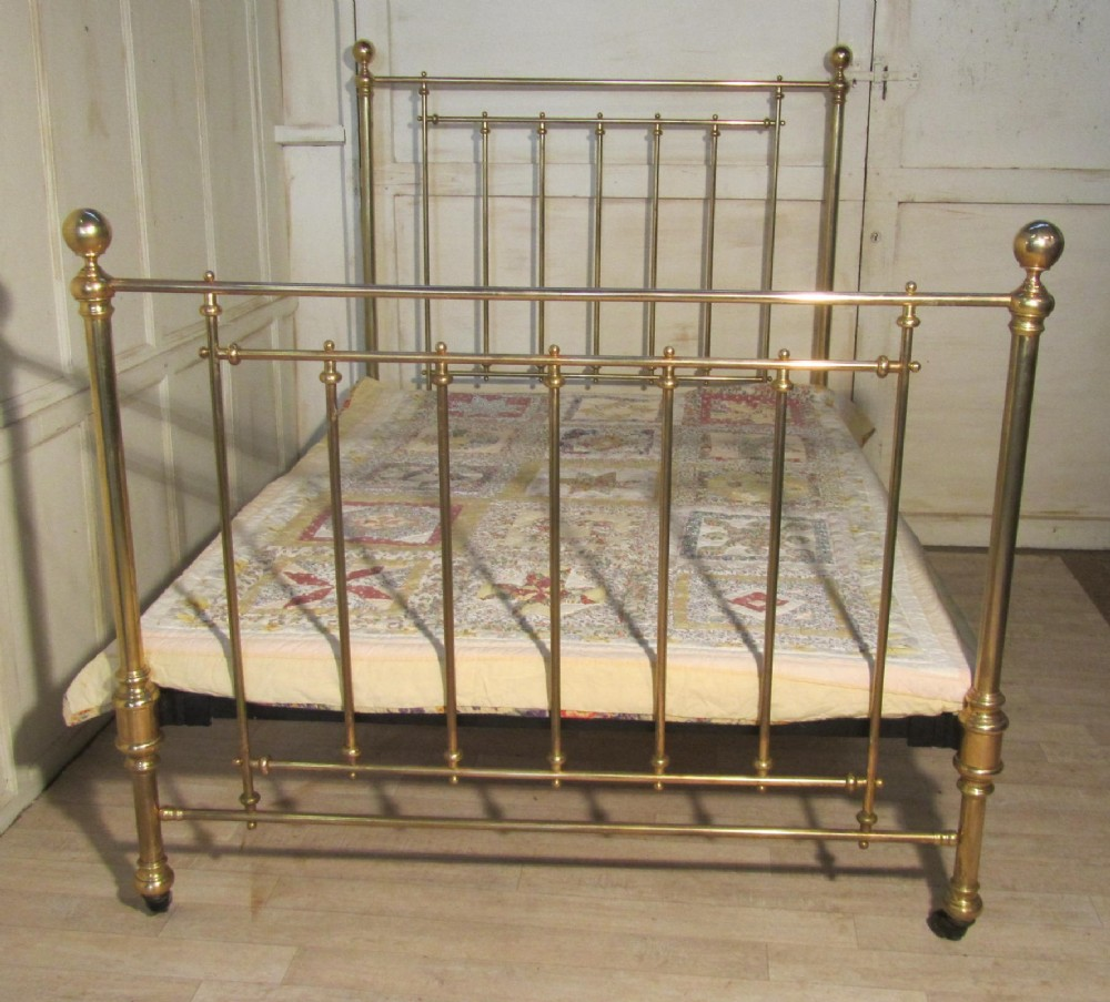Antique Victorian Metal Bed : Superb victorian brass double bed