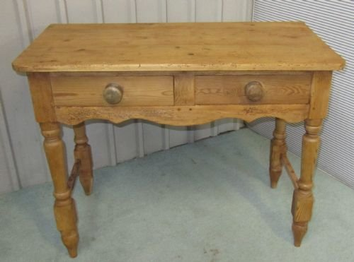 victorian rustic pine writing desk side table wash stand