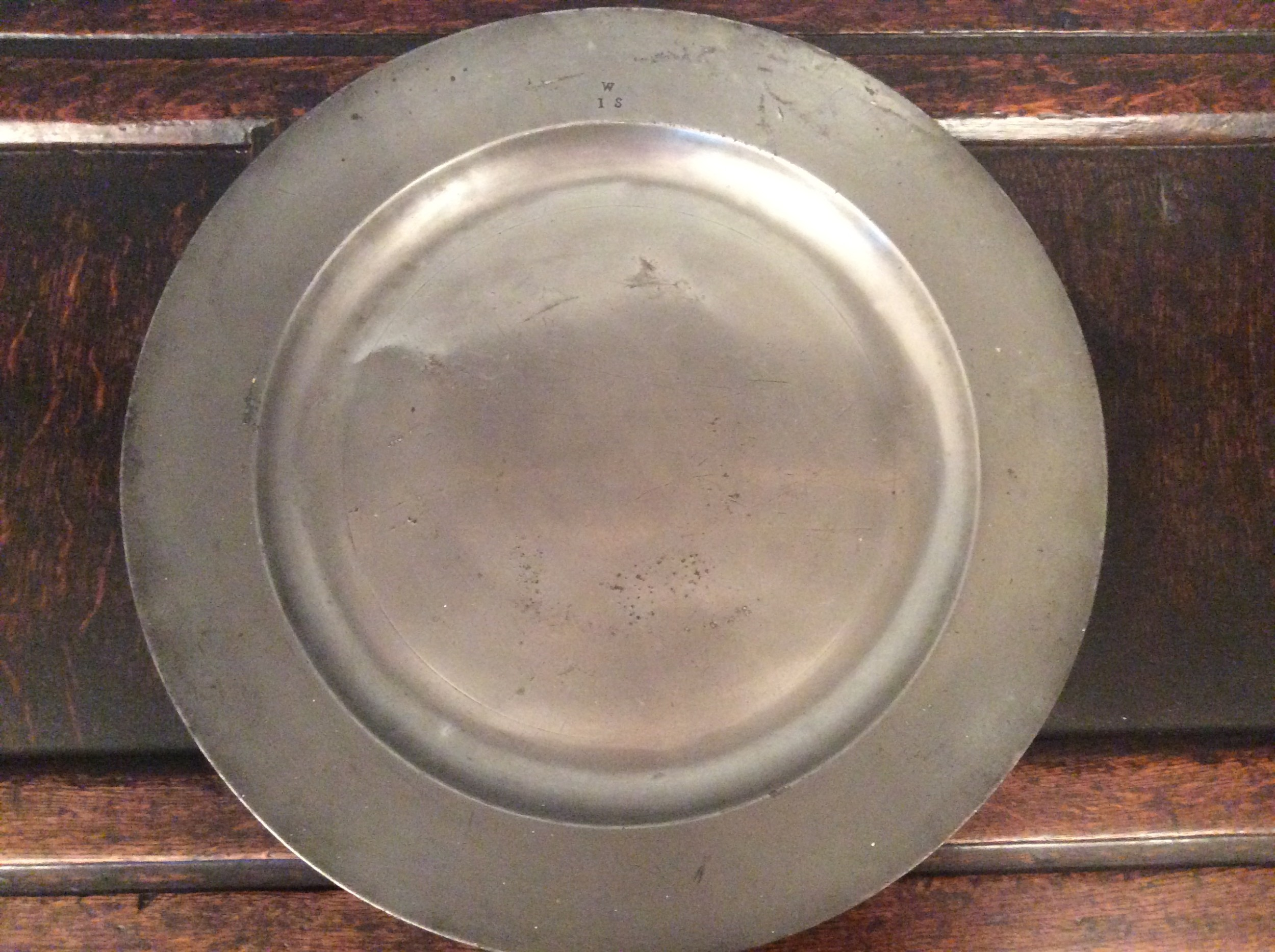 18th century georgian pewter charger